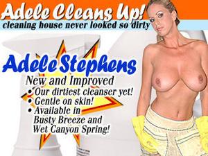 Adele Stephens – Adele Cleans in her Bathroom!