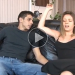 Horny Stepbrother and Stepsister Screwing on Couch