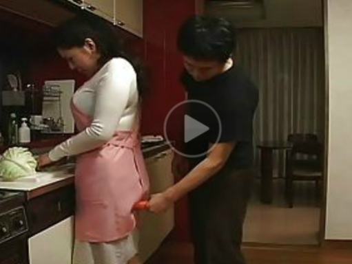 Vintage Japanese Male wants to fuck Mature in the Kitchen!