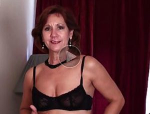 American Milf Strips in front of Male!