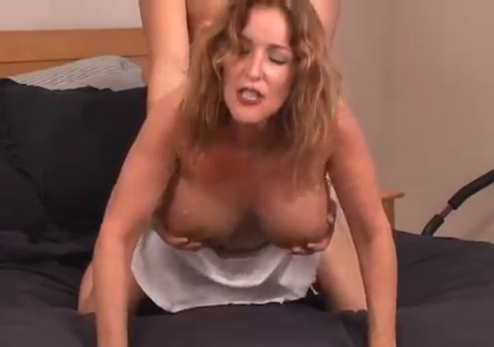 He is watching his milf fucked by behind