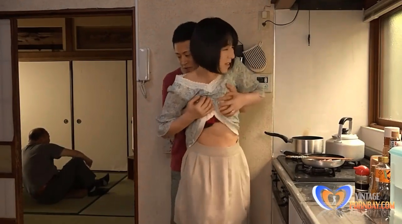 Japanese Milf Can't Resist Him in Home Kitchen
