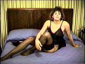 Beauty Milf Jodi features her vintage stockings (1991)
