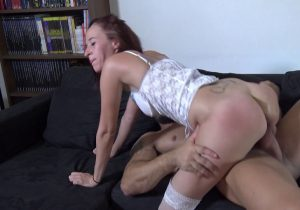 Milf is tired of being fucked by two guys