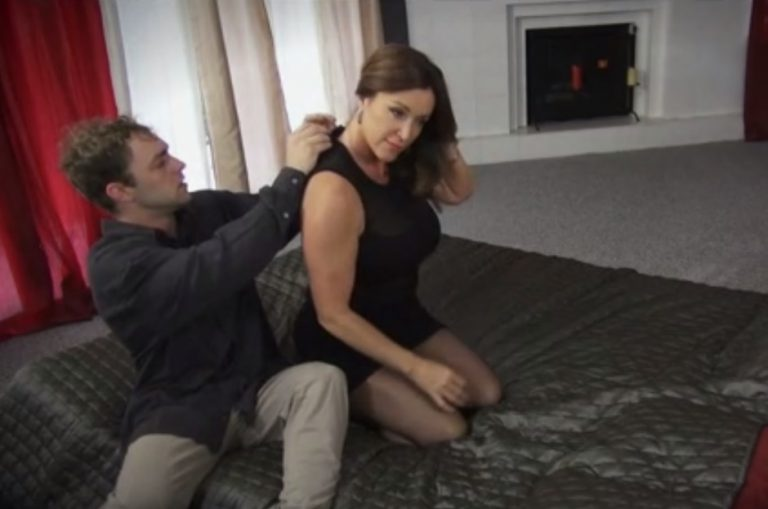 Unzipping MILF's dress and fuck her!
