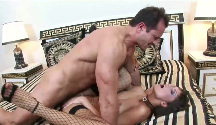 Milf in fishnet stockings screamed & fucked in my bed [HD] [1080p]